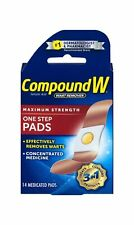 Compound W One Step Pads | Salicylic Acid Wart Remover | Unique Waterproof 14 Ct