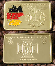 Federal republic Germany 1 OZ Gold bullion Bars gold 999 gold plated NEW