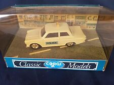 CORGI D708 FORD CORTINA SALOON POLICE CAR. MIB/BOXED.1:43.