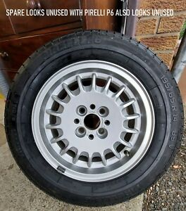 """BMW E30 Genuine Bottle Top wheels 14"""" set of 5 (incl. unused spare) WITH TYRES"""