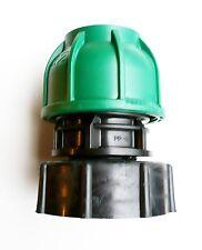 """IBC ADAPTER (S60X6 2"""" Grob Gewinde) bis 32 mm Gerades MDPE Druck Passend"""