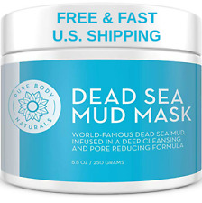 ORGANIC MUD Mask Dead Sea Face Body Acne Shea Citric Acid Bentonite SMOOTH SKIN