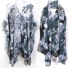 Tunic Kaftan Scarf Blouse Dress Wing Beach Cover Up Swimwear Robe Floral ts27dw