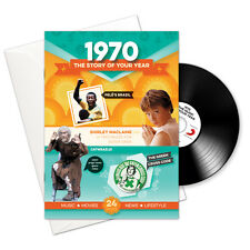 1970 47th Birthday Anniversary Gift Card Retro CD Book Gifts Greetings Cards