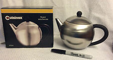 New-Cuisinox Stainless 28 oz Teapot with infuser-ship free