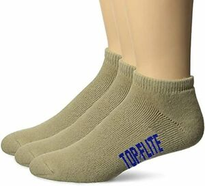 Top Flite Mens Sport Low Cut Cotton Full Cushion Athletic Ankle Socks 3 Pair