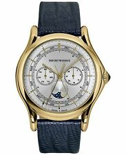 Emporio Armani Mens watch ARS4204 Swiss Made/ Navy Lizard leather strap/ 44mm