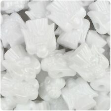 6 X 22mm White Pearl Angels Top Quality Pony Beads