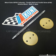 Mikuni Solex 50PHH Carburetor Throttle Shaft x1/Valves x2 - Datsun 240Z 280Z 510