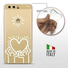 Huawei P10 TPU CASE COVER PROTETTIVA GEL TRASPARENTE KEITH HARING