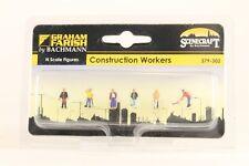 GRAHAM FARISH N SCENECRAFT 379-302 FIGURES CONSTRUCTION WORKERS FAR379302