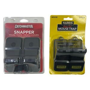 Catchmaster x Harris Easy Set Mouse Traps Snappers (4 Pack)