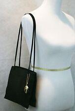 Charter Club Classic Black Fabric Evening Bag Handbag Purse EUC