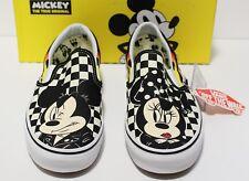 Vans X Disney Classic Slip On Mickey & Minnie Checker Men's Size 9.5 (Women's 11