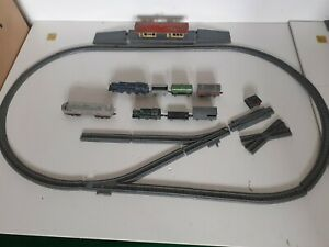 Vintage 000 Lone Star Locos Train Set Pieces: Track, Locos, Wagons, Station, etc