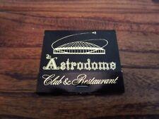 Astrodome Club & Restaurant Match Book Astros 1970s RARE SGA New Un Used