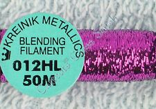 Kreinik Blending Filament 012HL Purple Hi Lustre Metallic Thread 50M CrossStitch