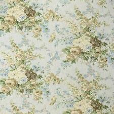 1.75 YDS Laura Ashley LA1315 ABBEY LANE 503 LAPIS Cotton Floral Drapery Fabric