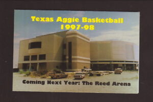Texas A&M Aggies--1997-98 Basketball Schedule--Texas A&M Bookstore--Reed Arena