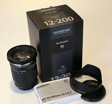Olympus Digital 12-200mm f3.5-6.3 M.Zuiko ED Lens MFT Micro 4/3 - Boxed & MINT