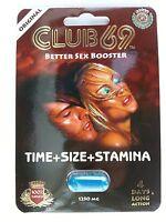 CLUB 69 1250mg Sexual Male Enhancement Libido Stamina powerzen extenzen, 1 pk