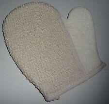 LOOFAH BATH SPONGE HAND MIT - NEW - exfoliating bath shower mitten glove mitt