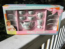 CHINA WARE BY FISHEL - MINIATURE FINE PORCELAIN 16 PIECES - NEW IN BOX