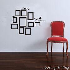 10 PCs Picture Photo Frame Set Wall Black Sticker Vinyl Decal Decor Home Art DIY