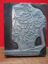 Hübscher antik tampon 1960, famille, metall und holz