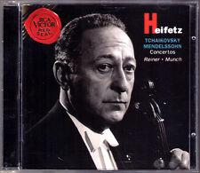 Jascha HEIFETZ: TCHAIKOVSKY MENDELSSOHN Violin Concerto CD Fritz REINER MUNCH
