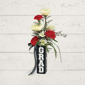 Square Graduation Flower Vase