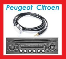 CABLE AUXILIAIRE MP3 PEUGEOT 206 207 307 308 407 807 1007 PARTNER BERLINGO
