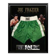 JOE FRAZIER HAND SIGNED FRAMED EVERLAST BOXING TRUNKS ALI TYSON MAYWEATHER