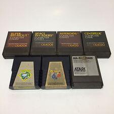 Atari 400/800/XL/XE 7 Game Lot Frogger Q Bert Computer Games (Untested)