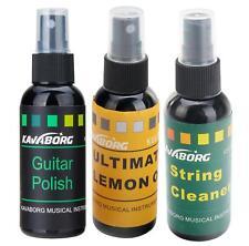 Rocktile Gp-complete Gitarren Pflegeölset Guitar Polish String Cleaner Lemon Oil