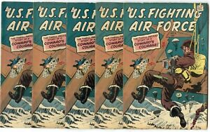 U.S. Fighting Air Force #9 (5 copies)  avg. FN/VF 7.0  IW  1962  No Reserve
