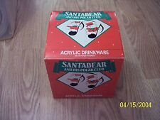 Vintage Santabear Glass And His Polar Club 1988 Dayton Hudson's X 4 Acrylic19 oz
