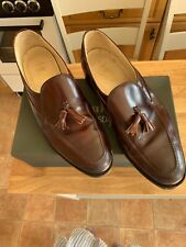 Loake Brown Tassel Loafers - Size 12