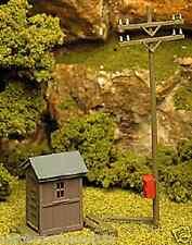 Atlas # 705 Telephone Shanty & Pole Kit Ho Scale Mib