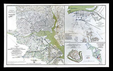 Civil War Map - Defenses of Washington DC Alexandria Paducah Logan's Cross Roads