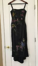 Mandalay Floral Painted Dress Gown Black Size 6