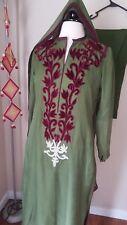 Shalwar salwar kameez party wear pakistani indian 3pcs sari kurta crinkel