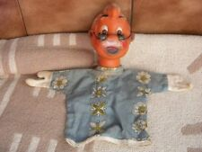 Vintage Pupppet Glove Hand Rubber Cloth Doll Toy Geppetto