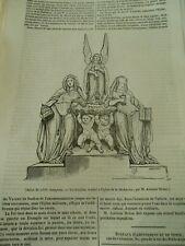 Un Bénitier destiné à l'aglise Madeleine 1836 Gravure Print Article