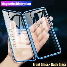 360° Full Magnetic Metal Frame Front + Back Tempered Glass Slim Phone Case Cover