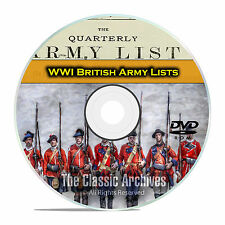 End WWI British Army Lists, 1916-1919, 39 Volumes British History PDF DVD E77
