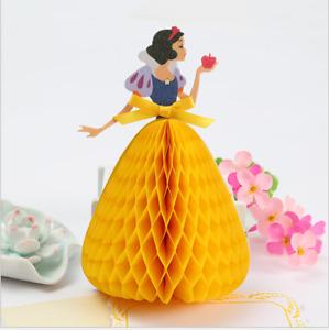 3D Handmade Princess Girls Party Invitation Card Birthday Holiday Greeting Card