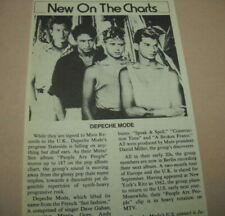 Depeche Mode are New On The Charts original detailed promo trade article w/ pic