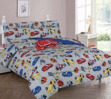 DREAMING RACING CAR COMFORTER BED SHEET SET WINDOW PANEL VALANCE FOR KIDS TEENS