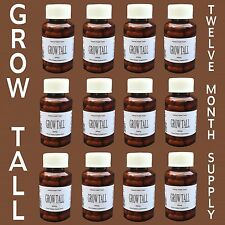 BE TALLER! ⭐⭐⭐⭐⭐ Gain a little Height up to 6 Inches bone growth 12 bottles NEW!